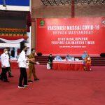 Presiden Jokowi Tinjau Vaksinasi Covid-19 bagi Masyarakat di Kota Balikpapan