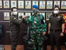 Kajari Indramayu Terima Kunjungan Kerja Komandan Subdenpom III/3-3